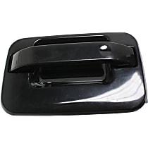 Rear, Driver Side Exterior Door Handle, Smooth Black
