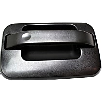 Rear, Passenger Side Exterior Door Handle, Textured Black