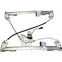 Rear, Passenger Side Power Window Regulator, With Motor - Crew Cab