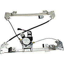 Rear, Driver Side Power Window Regulator, With Motor - Crew Cab