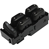 Window Switch - Front, Driver Side, Black, 5-Button