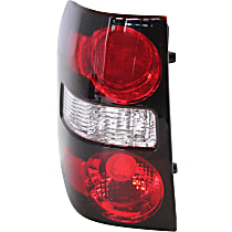 Driver Side Tail Light, Without bulb(s) - Clear & Red Lens, CAPA CERTIFIED