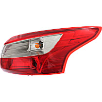 Sedan, Passenger Side, Outer Tail Light, With bulb(s), CAPA CERTIFIED
