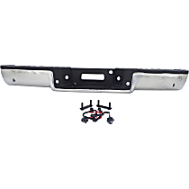 Chrome Step Bumper Assembly; w/ Parking Aid Sensor Holes, Fleetside/Styleside Bed, Vehicle Prod. Date From 8/2005