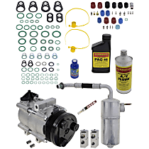 A/C Compressor, With clutch, 6-Groove Pulley; w/Rear Air, Until 3/17/97
