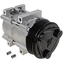 A/C Compressor, With clutch, 8-Groove Pulley