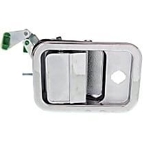 Front, Driver Side Exterior Door Handle, Chrome