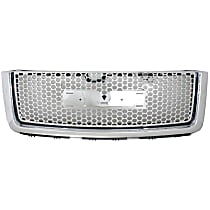 Grille Assembly - Chrome Shell with Painted Black Insert, Denali Model