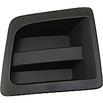 Driver Side Fog Light Cover, Textured Black
