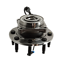 Wheel Hub and Bearing - Front, Driver or Passenger Side, 4WD, Single Rear Wheels, For Models with 9,900 lbs. GVWR