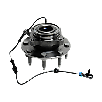Front Wheel Hub Bearing Assembly Driver or Passenger Side, For Models with 8 Lug Single Rear Wheels