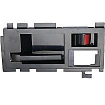 Front, Driver Side Interior Door Handle, Smooth Black