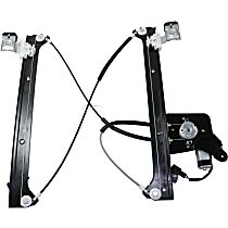 Rear, Passenger Side Power Window Regulator, With Motor, Crew Cab