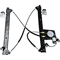 Rear, Driver Side Power Window Regulator, With Motor, Crew Cab