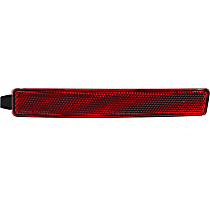 Rear, Driver Side Bumper Reflector