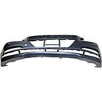 Front Bumper Cover, Primed, Sedan - w/ Headlight Washer & Park Sensor Holes, CAPA CERTIFIED
