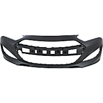 Front Bumper Cover, Primed, Coupe - w/o Park Sensor Holes, CAPA CERTIFIED