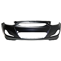 Front Bumper Cover, Primed - 2014-2017 Hyundai Accent - w/ Prod. Date From 10/15/2013