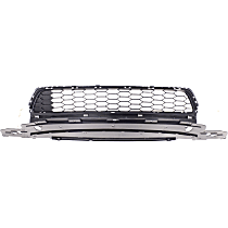 Bumper Grille, Textured Gray, CAPA CERTIFIED