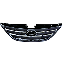 Grille Assembly - Chrome Shell with Paintable Insert, Except Hybrid Model, with Type 1 Bumper