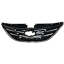 Grille Assembly - Primed Shell and Insert, Except Hybrid Model, with Type 1 Bumper