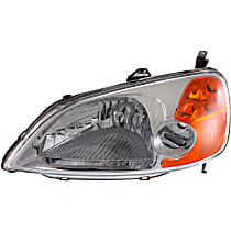 Driver Side Headlight, Without bulb(s) - Sedan, CAPA CERTIFIED