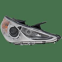 Passenger Side Halogen Headlight, With bulb(s) - Except Hybrid Model, Clear Lens, White Interior