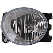 Fog Light Lens and Housing - Driver Side, Factory Installed