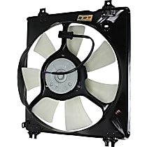 A/C Condenser Fan - 7 Fan Blades, Passenger Side, V6 Engine Models