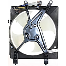 OE Replacement A/C Condenser Fan - Sedan/Coupe, Driver Side 1.7L Engine