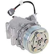 A/C Compressor, With clutch, 6-Groove Pulley; w/3-wire Connector