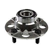 Rear, Driver or Passenger Side Wheel Hub And Bearing Assembly, For FWD, Rear Drum, Non-ABS