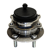 Rear, Driver or Passenger Side Wheel Hub and Bearing Assembly, For FWD with 4-Wheel ABS