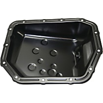 Replacement REPH311320 Transmission Pan - Black, Steel, Direct Fit, Sold individually