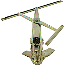 Front, Driver Side Manual Window Regulator, Manual Crank Type - Coupe