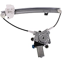 Rear, Driver Side Power Window Regulator, With Motor