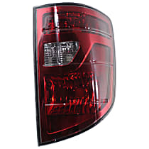Passenger Side Tail Light, Without bulb(s) - Clear & Red Lens