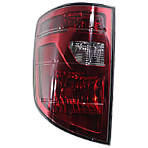 Driver Side Tail Light, Without bulb(s) - Clear & Red Lens
