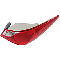 Passenger Side, Outer Tail Light, With bulb(s) - Clear & Red Lens, Exc. Hybrid Model