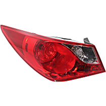 Driver Side, Outer Tail Light, With bulb(s) - Clear & Red Lens, Exc. Hybrid Model, CAPA CERTIFIED