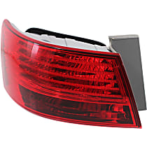 Driver Side, Outer Tail Light, With bulb(s) - Red Lens, From 12-17-07