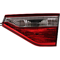 Passenger Side, Inner Tail Light, With bulb(s) - Clear & Red Lens, CAPA CERTIFIED