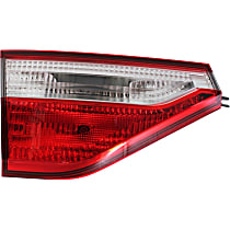 Driver Side, Inner Tail Light, With bulb(s) - Clear & Red Lens, CAPA CERTIFIED