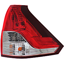 Passenger Side, Lower Tail Light, With bulb(s) - Clear & Red Lens