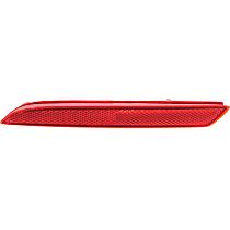 CAPA Certified Driver Side Bumper Reflector