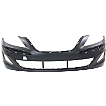 Front Bumper Cover, Primed, Sedan - w/ Park Sensor Holes, CAPA CERTIFIED