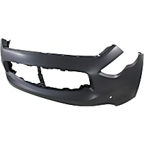 Front Bumper Cover, Primed - w/ Navigation System, w/o Parking Aid Snsr Holes, w/o FL Holes, w/ Navigation System, CAPA CERTIFIED
