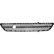 Center, Bumper Grille, Textured Gray