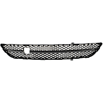 Center, Bumper Grille, Textured Gray, CAPA CERTIFIED