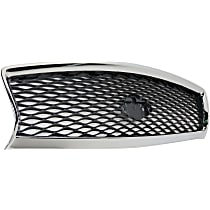 Grille Assembly - Chrome Shell with Painted Gray Insert, without Front View Camera